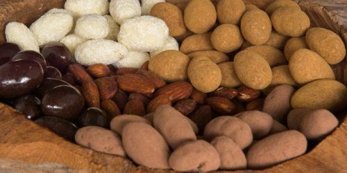 biologische amandelen amandelnoten chocolade coating drageren amandelen