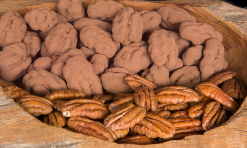 pecans chocolade coating drageren