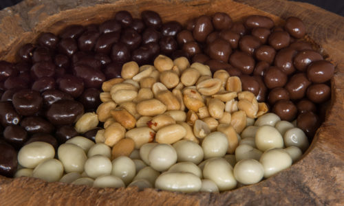 Biologische pindas pinda chocolade coating drageren