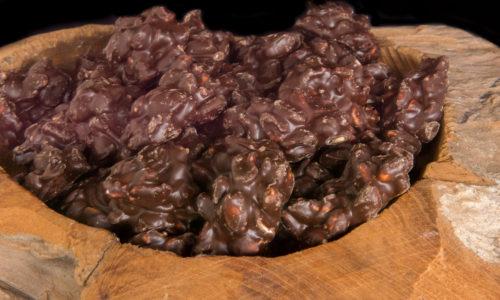 Biologische pindarotsjes chocolade coating drageren