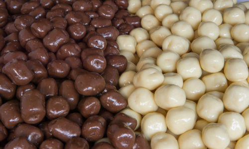 marshmallows chocolade coating drageren